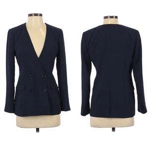 J. Crew 365 French Girl Blazer Navy Blue Button 4P